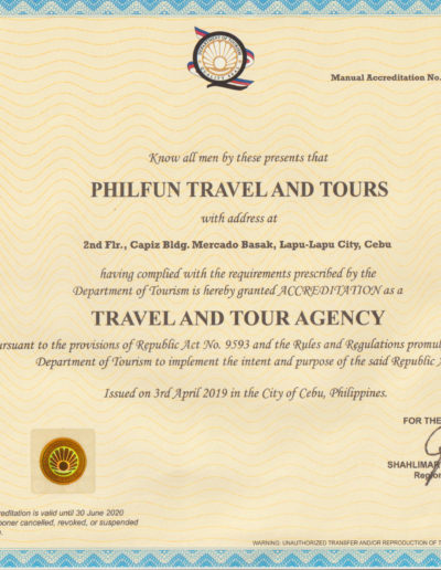 Аккредитация Департамента по туризму